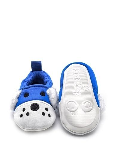 First Step 3 boyutlu köpek nakışlı patik mavi Mavi